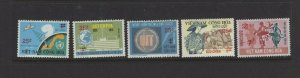 Vietnam (South)  #496-500 (1974-75 Surcharge set) VFMNH CV $89.50