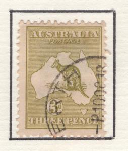 Australia 1915-24 Stamps Kangaroo & Map 3d Scott 47 F