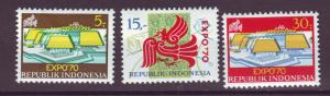 J21037 Jlstamps 1970 indonesia set mh #780-2 expo 70