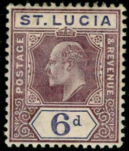 ST. LUCIA SG72, 6d dull purple & violet, M MINT. Cat £27.
