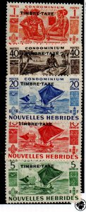 French New Hebrides J16-J20 Set Mint Hinged