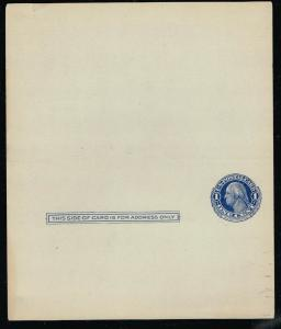 USA  UY5 - Double Frame Line - Paid Reply - Unused/Unfolded  CV$175.00