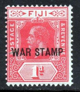 FIJI King George V 1915 War Stamp Overprint 1d. Bright Scarlet SG 139a MINT