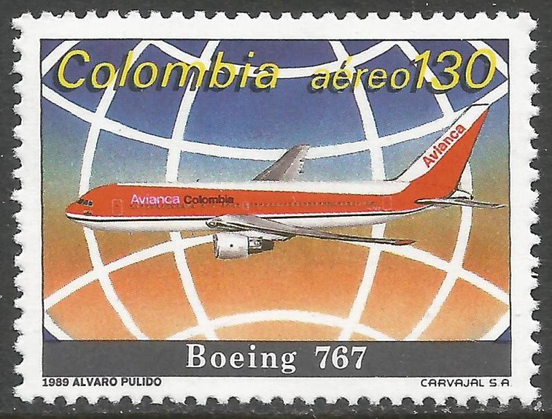 COLOMBIA C813 MNH AIRPLANE Z5356