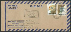 COOK IS 1970 cover - Apollo 13 commem handstamp & 4c overprint.............11583