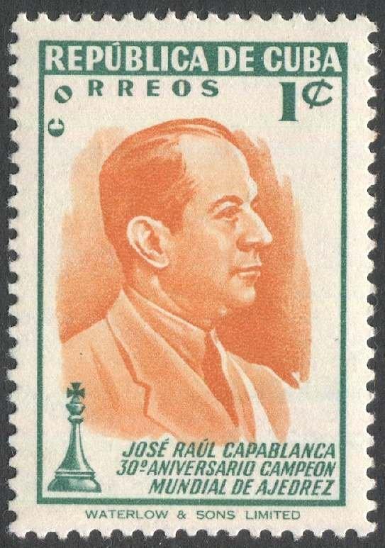 CUBA 1951 Sc 463  MNH VF, 1c  World CHESS Titlist Jose Raul Capablanca