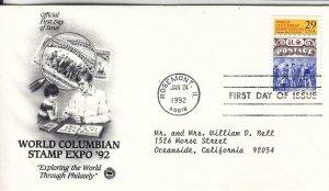1992, World Columbian Stamp Expo '92, PCS, FDC (E8083)