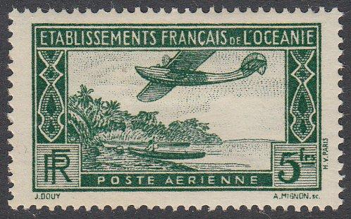 French Polynesia C1 MH CV $1.25
