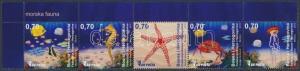 Bosnia Herzegovina stamp Definitive: Sea animals corner stripe of 5 MNH WS225355