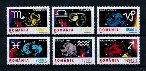 [100956] Romania 2001 Zodiac signs Scorpion Fish Libra Capricorn  MNH