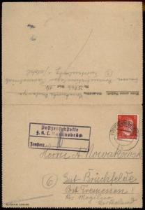 3rd Reich Germany 1944 Concentration Camp FKL Ravensbrueck Cover 82394