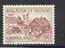Greenland Sc 76 1970 Liberation Anniversary stamp mint NH