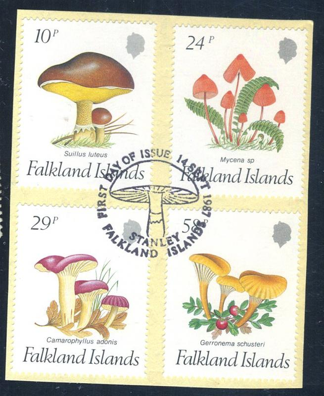 Falkland Is #469-72 Used VF First Day Cancel Cat$16