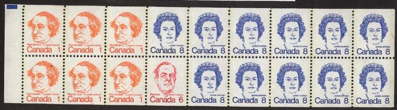 Canada - 1975 Caricature Booklet Pane of 18 VF-NH #586b