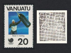 Vanuatu Boxing Olympic Games Seoul 20vatu Watermark Inverted SG#502w