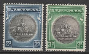 BAHAMAS 1931 SHIP SEAL 2/- AND 3/-