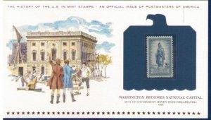 US Sc 989  MNH,Og Encapsulated On A Commemorative Postal History Card F-VF