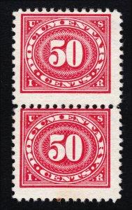 US STAMP REVENUE ⭐ SCOTT #R238 ⭐ 50 CENTS DOCUMENTARY MNH STRIP OF 2 (SPOT)
