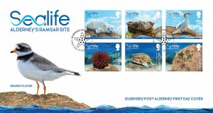 Stamps Alderney 2020. Marine life in the Ramsar region. First Day Cover