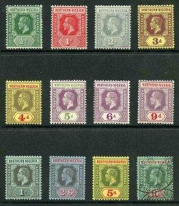 Northern Nigeria SG40/51 1912 KGV Wmk Mult Crown CA Part Set of 12 Mixed