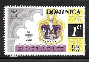 Dominica 522: 1c Imperial State Crown, MH, F-VF
