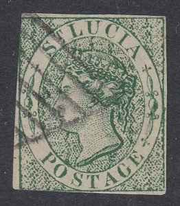 ST LUCIA  An old forgery of a classic stamp.................................D280