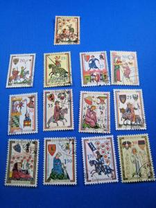 LIECHTENSTEIN 1961 - SCOTT #359-367, 381-384  Used   (brig)