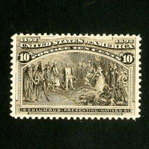 US Stamps # 237 XF Fresh neat hinge full OG