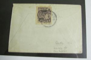Crete Stamps # 86 2L Dull Violet Double Overprint 1910 Cover