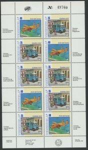Venezuela 1995 MNH Miniature Sheet | Scott 1515 | Postal Transportation