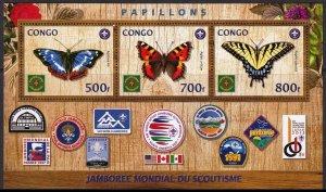 CONGO BUTTERFLIES SCOUT JAMBOREE USA PAPILLONS SCHMETTERLING FARFAL