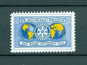Sweden. Poster Stamp Mnh Rotary 1905-1955