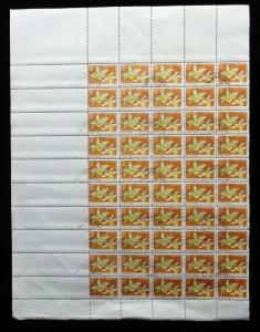 North Vietnam 1976 Flowers Orchids 2x SHEETS of 50 Stamps CTO Folded [D183]