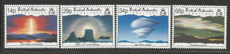 BRITISH ANTARCTIC TERRITORY 198-201 MNH ATMOSPHERIC PHENOMENA SET 1992