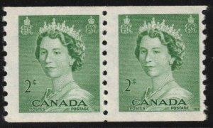 CANADA - QEII Karsh Portrait 2c Coil Pair 1953 SC331