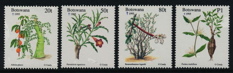 Botswana 587-90 MNH Christmas, Flowers, Trees