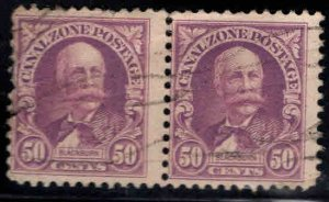 Canal Zone Scott 114 used pair
