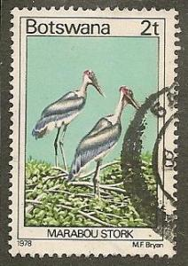 Botswana     Scott  199     Birds    Used