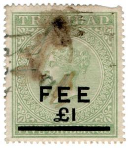 (I.B) Trinidad & Tobago Revenue : Fee £1 on 5/- OP