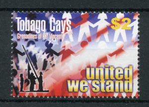 Tobago Cays Gren St Vincent 2003 MNH United We Stand September 11 1v Set Stamps