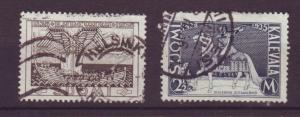 J19330 Jlstamps 1935 finland used #208-9 designs
