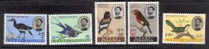 ETHIOPIA 386-390 MNH BIRD SET 1962