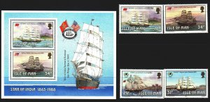 Isle Of Man. 1988. 371-74, bl10. Sailboats. MNH.