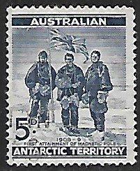 Australian Antarctic Territory # L6 - South Pole Expedition - Used....(KlBl9)