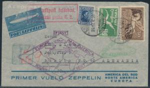 URUGUAY MAY - JUNE 1930 ZEPPELIN FLT RIO DE JANIERO - GERMANY SIEGER #61B BR1907