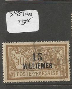 French Alexandria SC 57 VFU (10cpp)