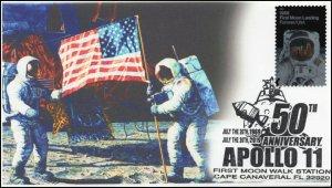 19-199, 2019, Moon Landing, Pictorial Postmark, Event Cover, Apollo 11,Cape Cana