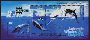 Australian Antarctic Territory L97c MNH Whales, Dolphins