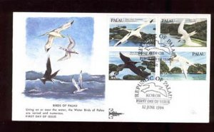 008513 1984 Palau set Birds on FDC #578
