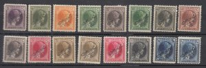 J25711JLstamps 1926-7 luxembourg set mh #o142-57 perf 12
